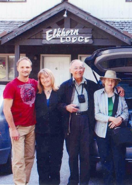 Family in Banff, Alberta, 2010.